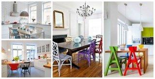 Mese si scaune diferite pentru masa din bucatarie