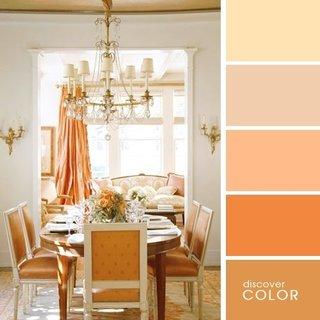 Dining in culoarea piersicii