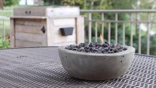 Semineu de exterior pentru masa homemade