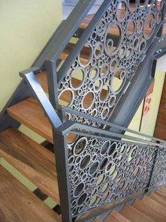 Model balustrada scara cu cerculete