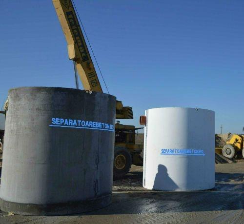 Separator de hidrocarburi din beton cu filtru coalescent