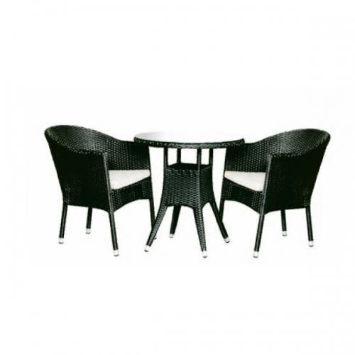 Set masa rotunda cu doua scaune pentru terasa