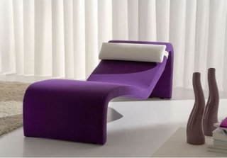 Model ultra modern de sezlong pentru camera de zi violet cu alb