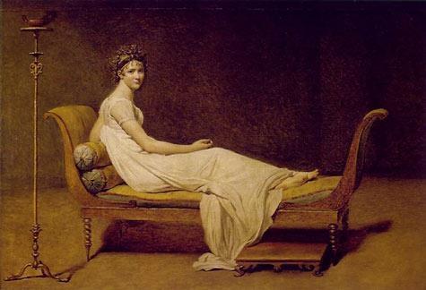 Portret Madame Recamier de Jacques Louis David