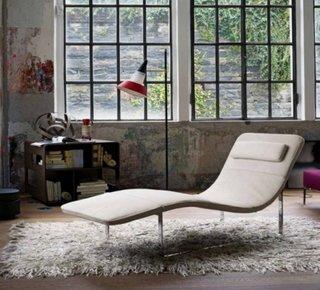 Sezlong alb model minimalist modern