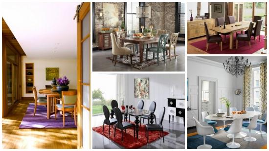 Sfaturi utile si practice pentru alegerea covorului din dining + 15 modele de covoare de care te vei indragosti