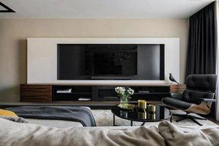 Comoda living cu stand de televizor pe perete