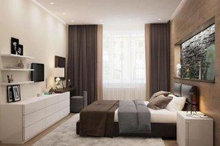 Dormitor cu decor minimalist