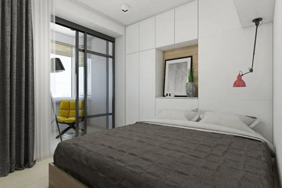 Dormitor mic cu amenajare moderna