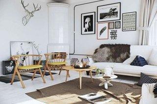 Living cu decor alb