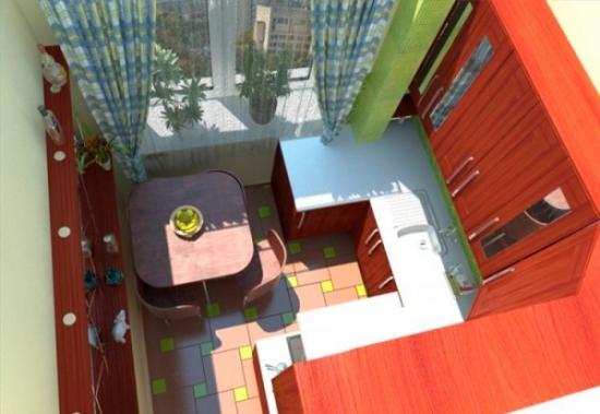 Bucatarie extinsa in balcon