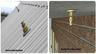 Sistem de stingere incedii cu drencere si sprinklere