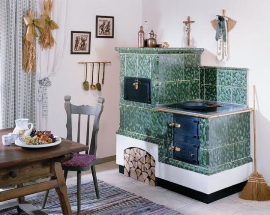 Sobe de teracota cu plita pentru bucatarie