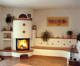 Model de soba de lut moderna cu mobilier