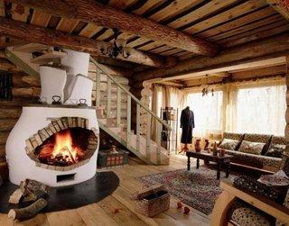 Soba de lut kiva decor rustic