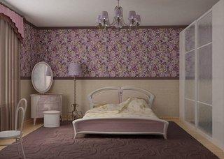Design interior cu 2 tipuri de tapet