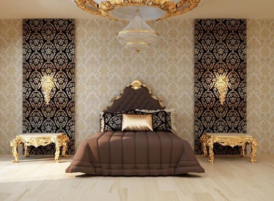 Dormitor de lux cu tapet