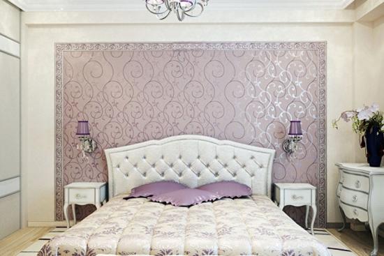Dormitor exclusivist cu tapet