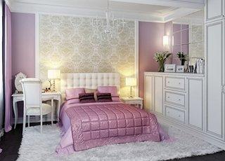 Tapet auriu in dormitor