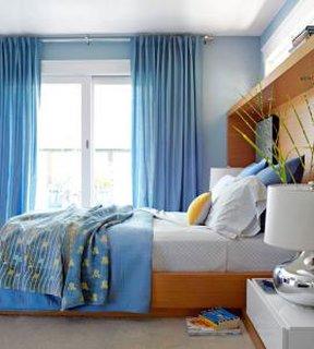 Dormitor mic albastru