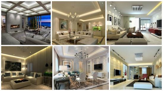 Solutii inteligente pentru iluminatul decorativ ascuns din living
