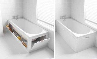 Cada de baie cu spatii de depozitare in masca