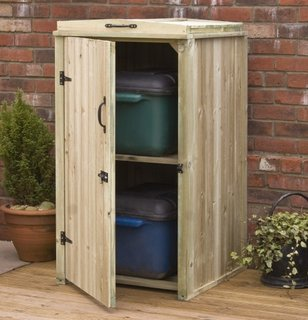 Dulap din lemn pentru depozitare exterioara
