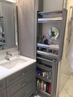 Dulapuri inguste pentru spatii mici in baie