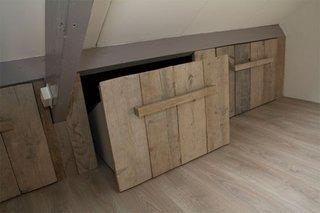 Sistem sertare lemn in perete