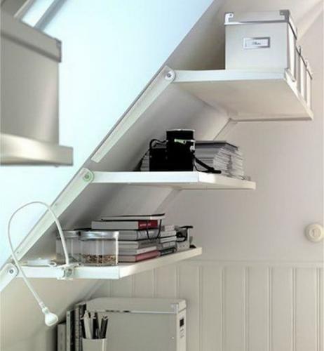 Solutie de la ikea pentru etajere pereti inclinati
