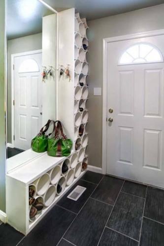 Garnitura hol cu etajere pentru pantofi