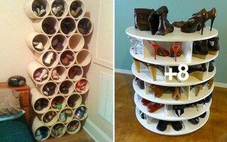 Idei practice pentru depozitare pantofi