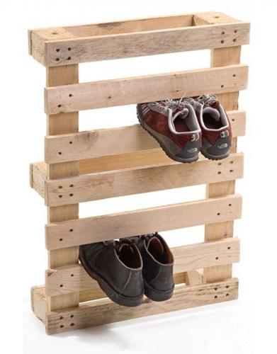 Palet folosit pentru pastrarea pantofilor in ordine