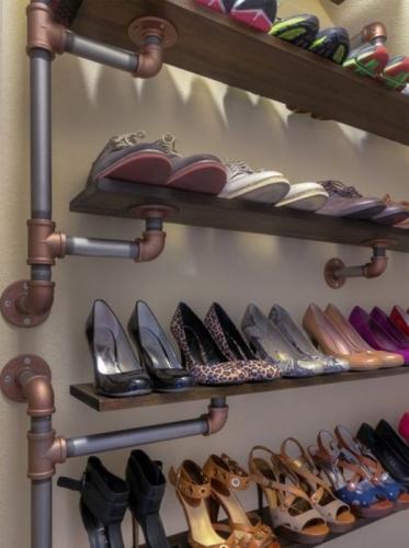 Raft pentru pantofi model original in stil industrial