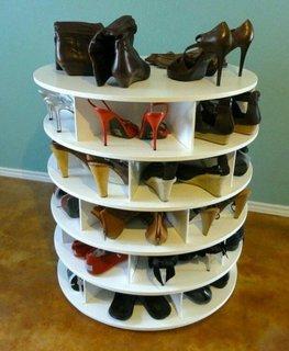 Suport depozitare pantofi rotund cu rafturi