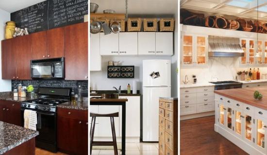 Hai sa vezi 20 de idei stilate dar ieftine de a folosi spatiul acela inutil de deasupra dulapurilor din bucatarie
