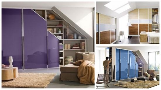 10 idei de dulapuri pentru mansarda sau sub scara - Idei practice si moderne pentru un tavan inclinat