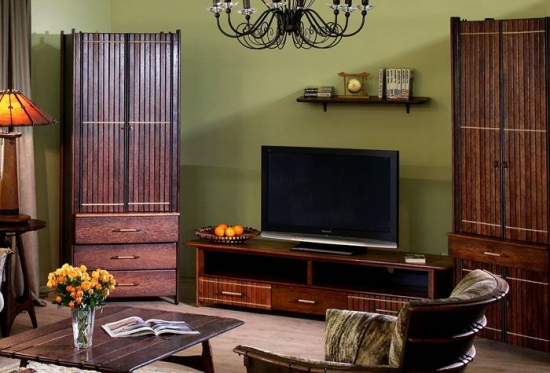 Comoda din lemn televizor