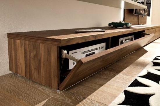 Comoda moderna din lemn televizor