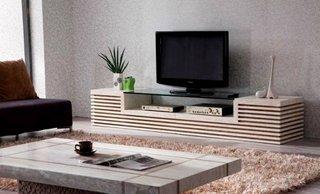 Comoda televizor din lemn si sticla