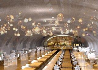 Concept interesant de restaurant amenajat in locul unei vechi statii de metrou