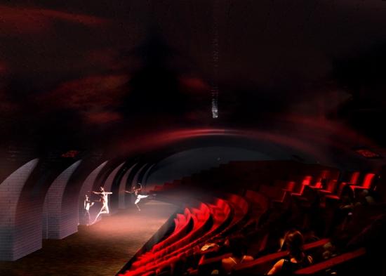 Statie de metrou pariziana transformata in teatru si loc pentru spectacole