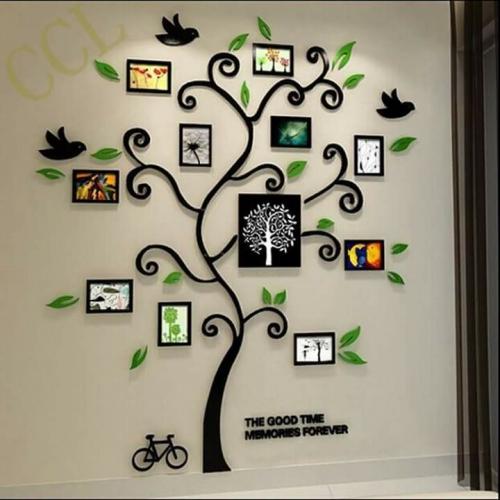 Decoratiune perete copac cu rame foto