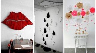 Idei decoratiuni pereti 3D