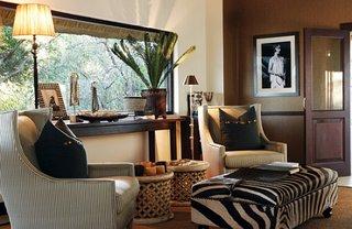 Bancheta cu tapiterie zebra print