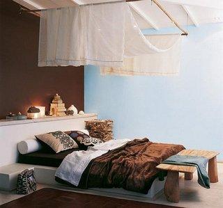 Model de pat de dormitor zidit