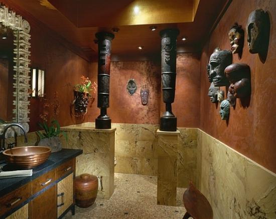 Pereti baie cu marmura si stucco venetian