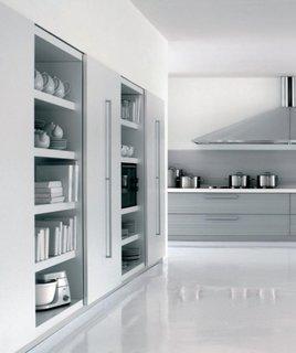 Designul futurist este potrivit si pentru bucatarie