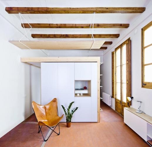Structuri de grinzi pentru tavanul unui apartament