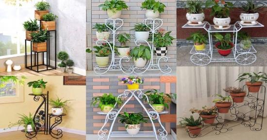 Uite 15 idei frumoase de suporturi din fier forjat pentru florile tale - stim ca deja nu mai ai loc pe balcon